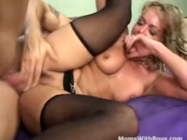 Mama releases tension fucking a young cock 2
