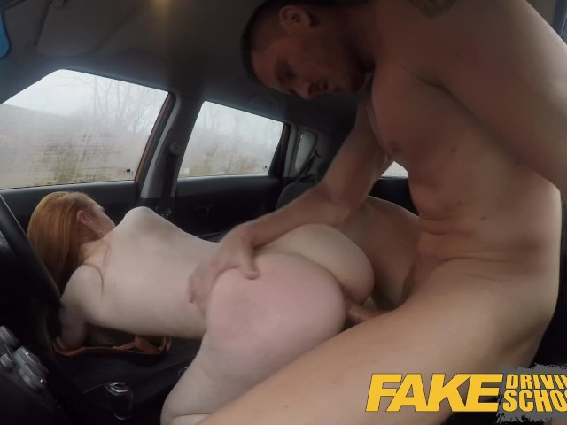Fake driving school exam failure ends up in threesome double creampie 7