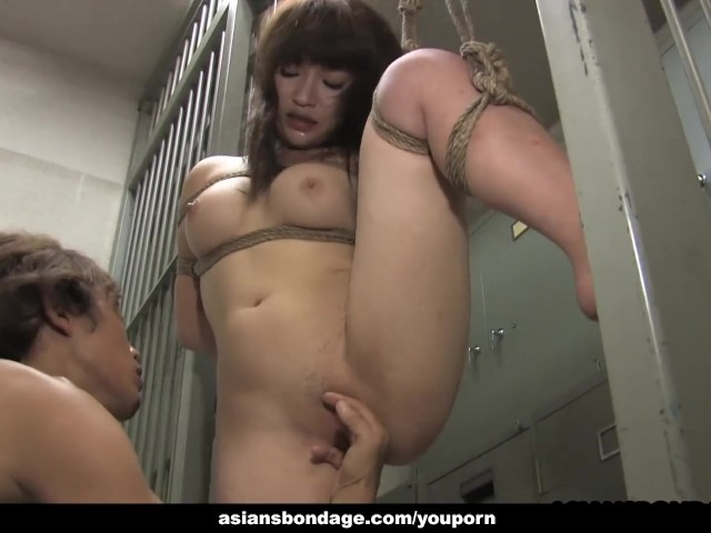 Bound Asian hottie gets fucked with force behind the bars #1184518