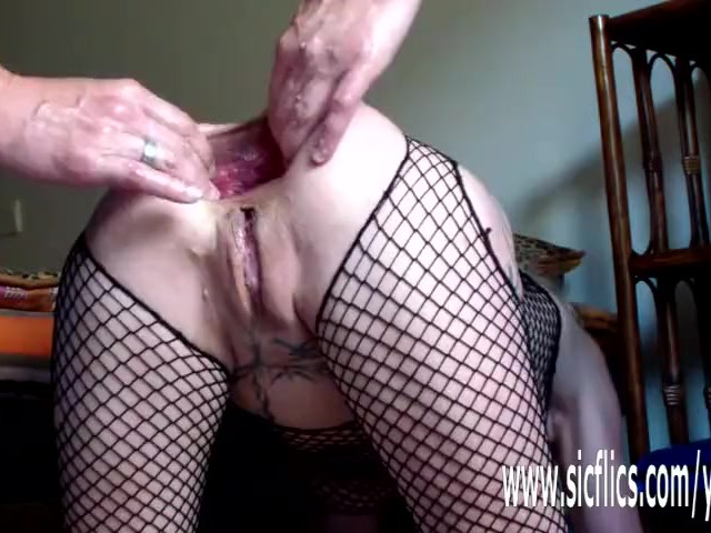 Colossal Anal Dildo Fuck and Fisting