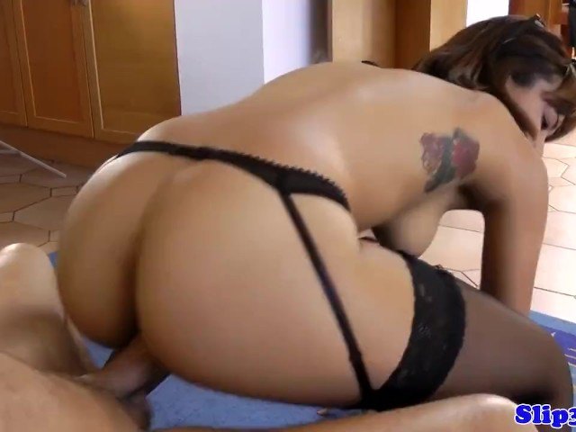 Bootylicious Euro Teen Gets Doggystyled