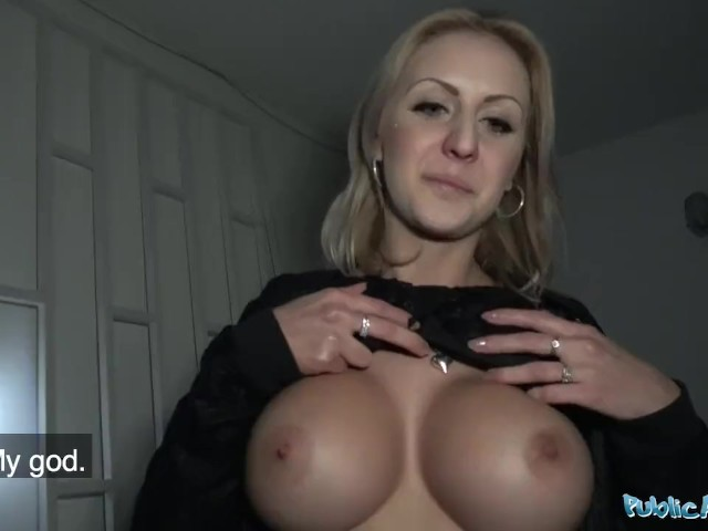Public Agent Perfect boobs get covered in jizz #1156192