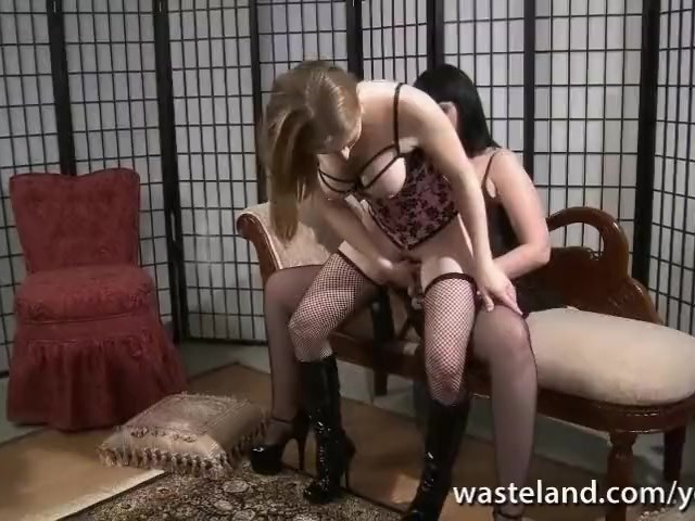 Dominant Babe With Strap-on in Hardcore Lesbian Action