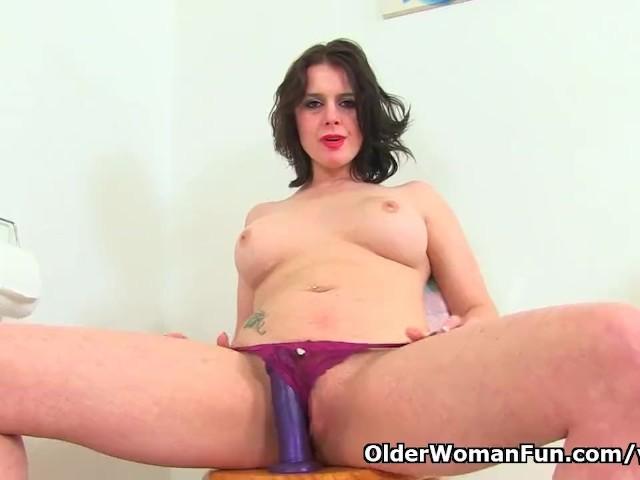 British milf karina pushes a dildo up her arse 6
