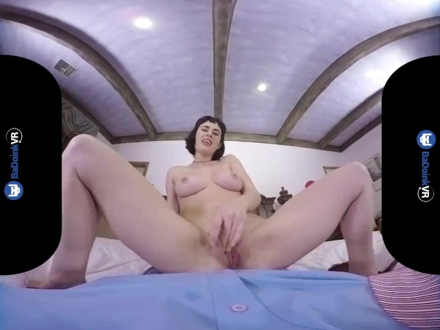 image Badoinkvrcom call girl olive glass rides your cock in vr