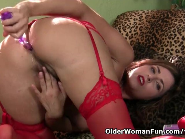 american milf helena fills her holes with sex toys