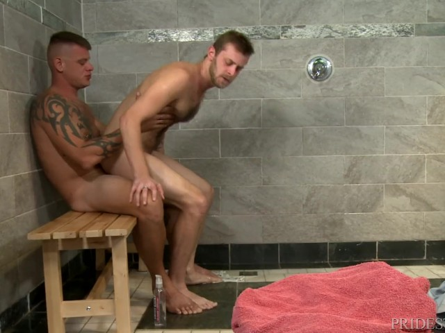 Horny 4 Hairy Guys, Tattoos  Big Dicks In A Public Shower -4866