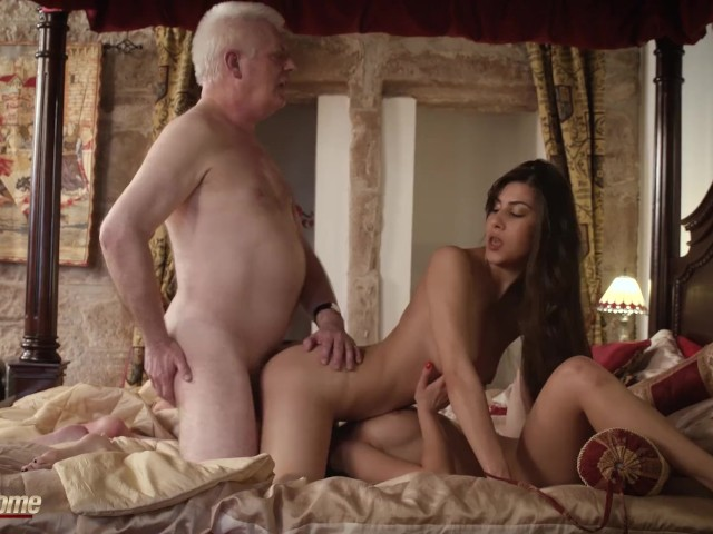 Surprise Threesome For Rich Old Man From Teen Girlfriend -5467
