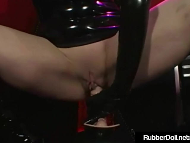 Rubberdoll & Rubberella Spank Latex Slut Plus Sybian Orgasm!
