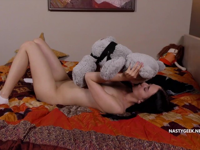 Perfect Soft Teen Fucking Her Teddy Bear and Being Very Satisfied With It