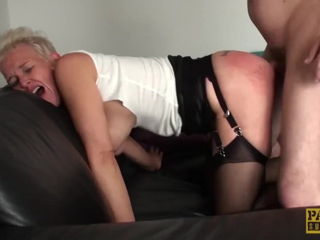 Roughly Fucked Mature Slut Swallows Huge Load of Cum