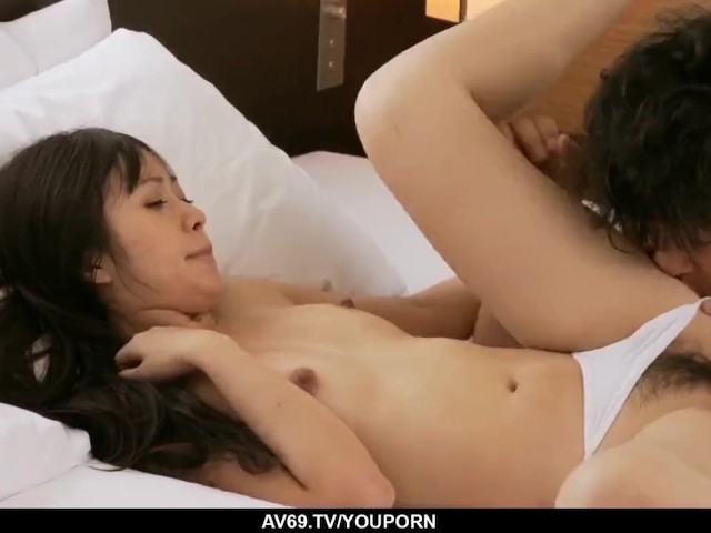 Kotomi Moans Hard With a Cock in Her Tiny Pussy - More at 69avs.Com