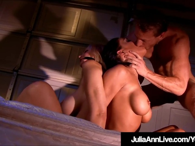 Milf Julia Ann & Jessica Jaymes Bound, Gagged and Fucked!
