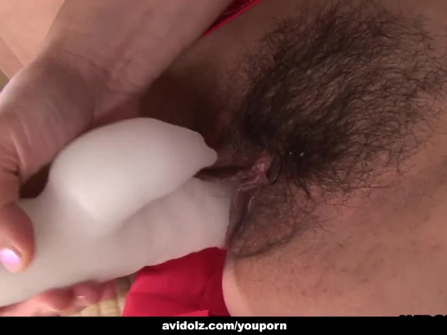Asian Brunette Toy Fucking Her Cunt All by Herself