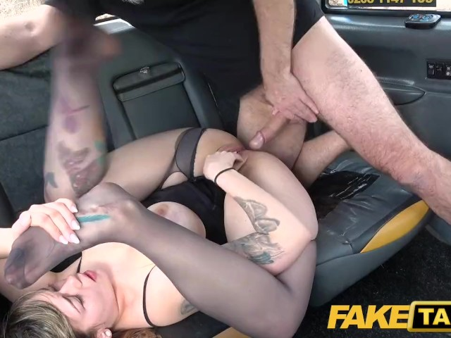 Fake Taxi Busty Passenger Gives Good Tit Wank and Rides Drivers Big Beard