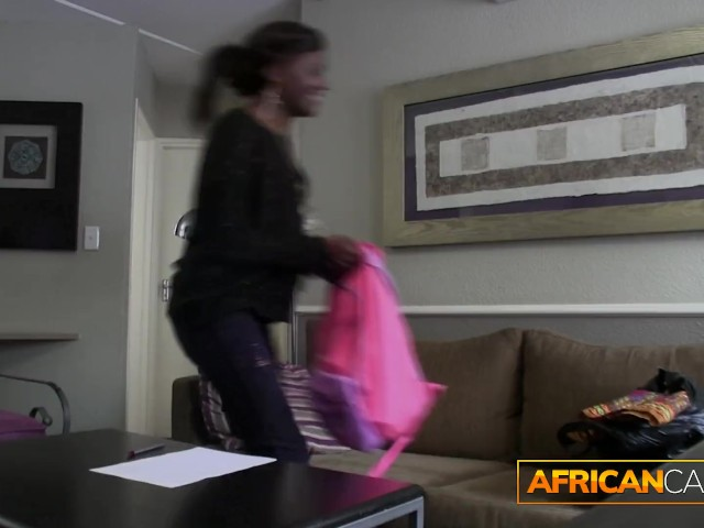 African Beauty Licks Ass for a Job