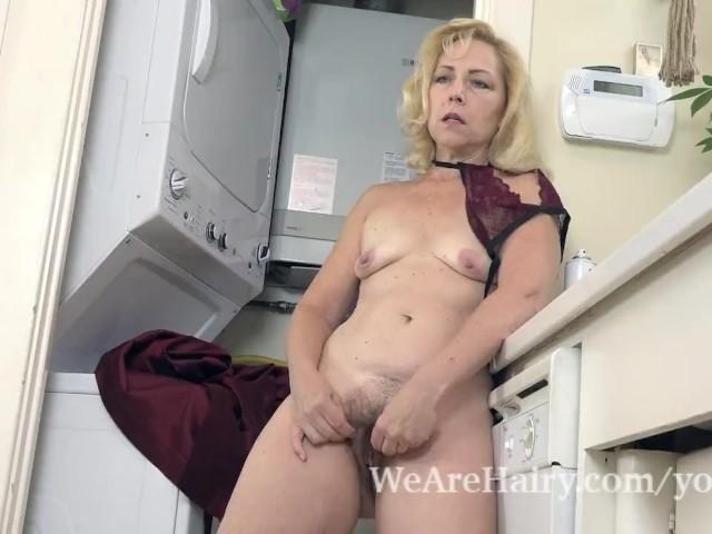 Badd Gramma Strips Naked in Her Kitchen