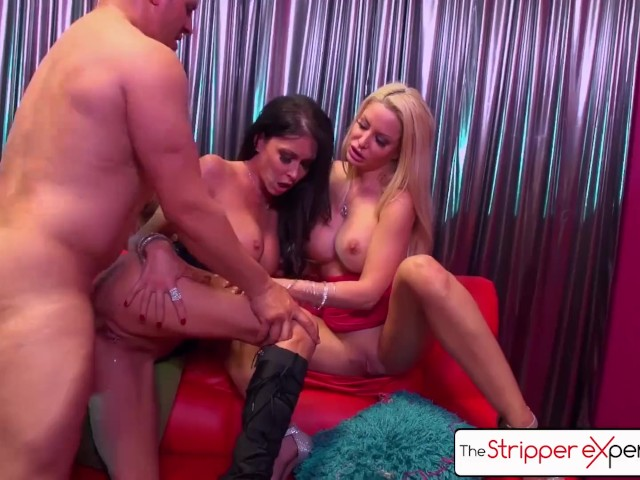 The Stripper Experience - Jessica Jaymes & Helly Hellfire Fucking a Big Dick
