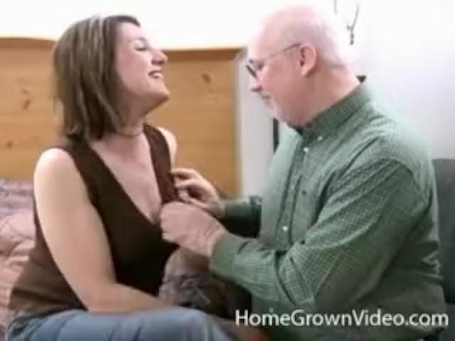 Older Lisa Sucks and Fucks Grandpas Cock