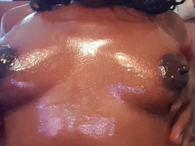 Perky Small Tits Rubbed in Oil