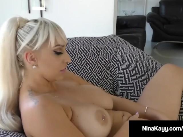 Nympho Nina Kayy Bates During Sexting Fuck Session!