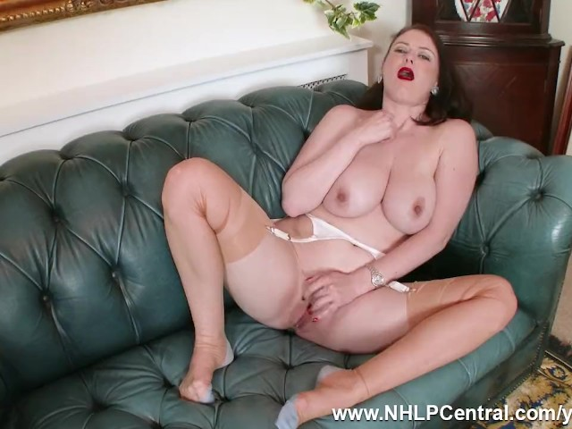 Big Natural Tits Brunette Brookie Little Peels Off White Retro Lingerie Masturbates in Rare Nylons and Red Heels