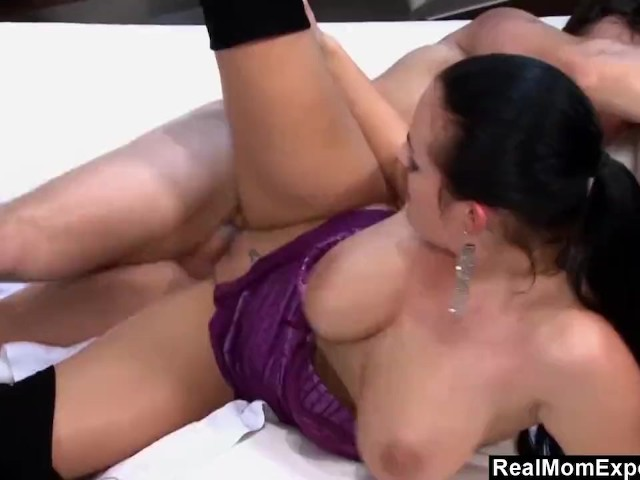 big breasted mom fucked in lingerie