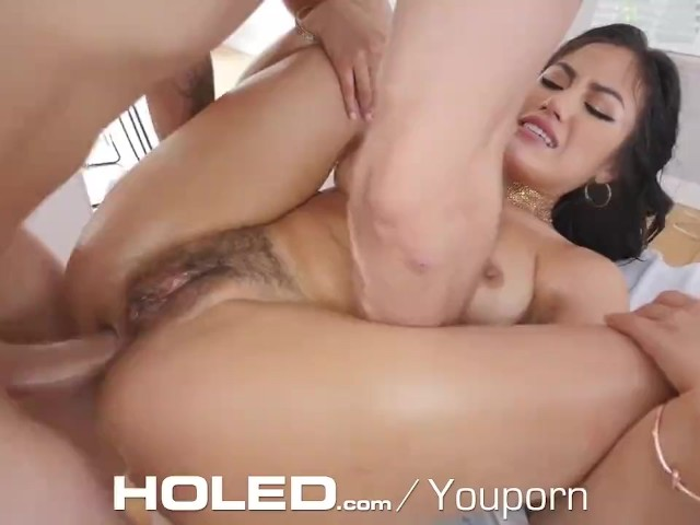 Holed Kendra Spade Oils Her Tight Asshole for Toys and a Big Dick