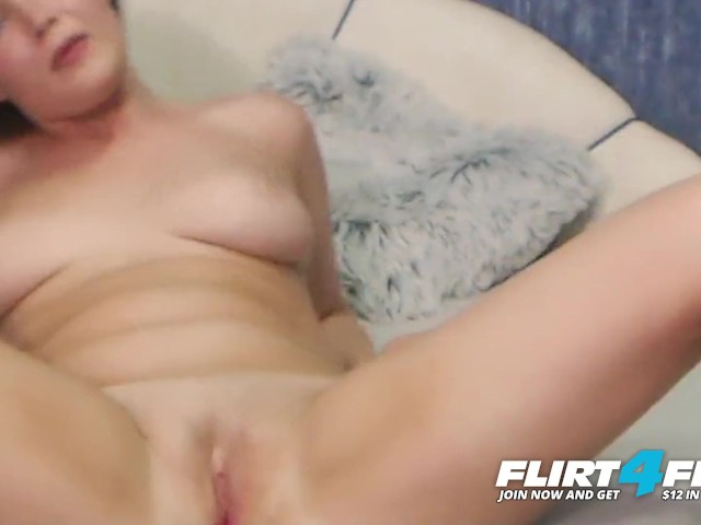 Flirt4free Model Farlei - Blue Eyed Brunette With Perfect Tits Fingers Her Perfect Pussy
