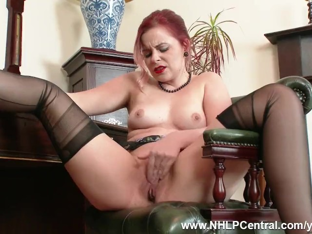 Redhead Anna Belle Is Your Vintage Nylon Fetish Consultant at the Jerk Off Club and Is Dressed to Ensure Complete and Full Ejaculation!