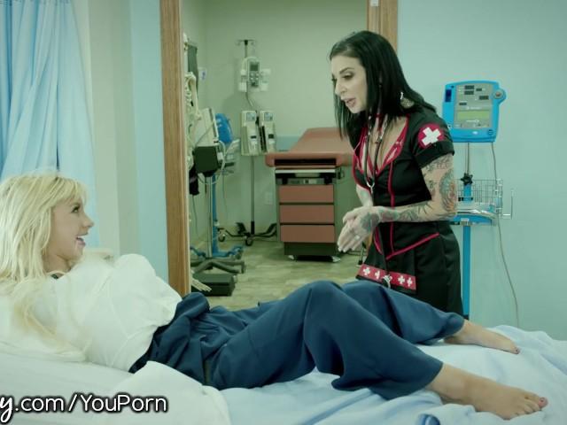 Girlsway Nurse Joanna Angel Anally Probes Teen Patient