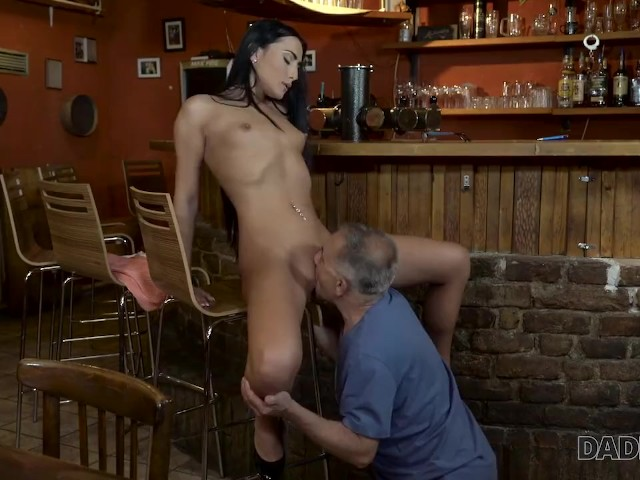 Daddy4k. Old and Young Lovers Have Fun When Athletic Boy Catches Them