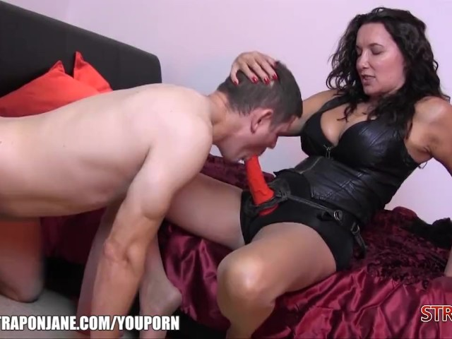 from Grayson nylon over his cock