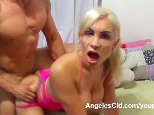 Angeles Cid Gets Muscle Boy Cock