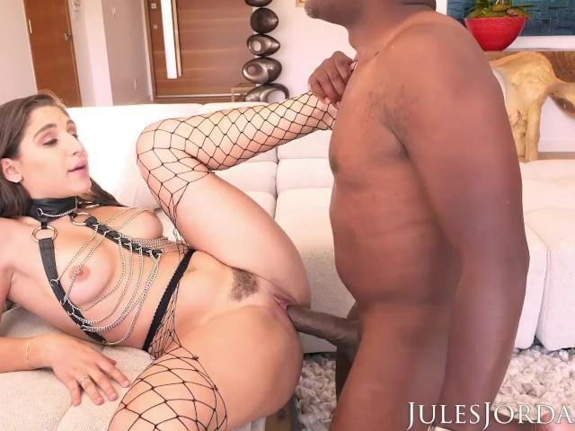 Jules Jordan - Abella Danger's Ass Has a Date With Mandingo's 14 Inch Big Black Cock