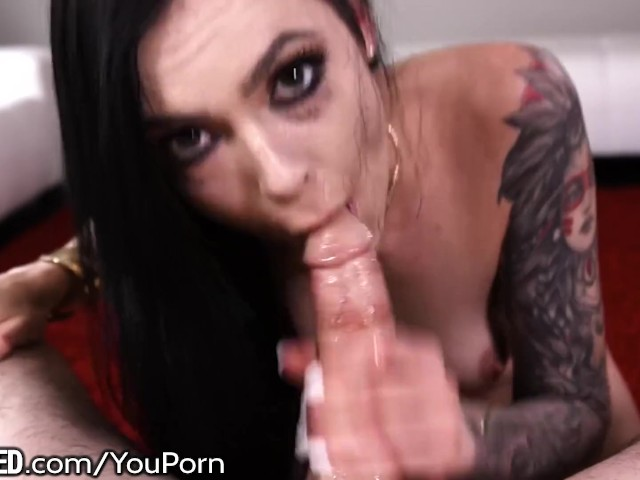 Throated Slut Tattoed Teen & Ur Big Dick Roughing Her Mouth