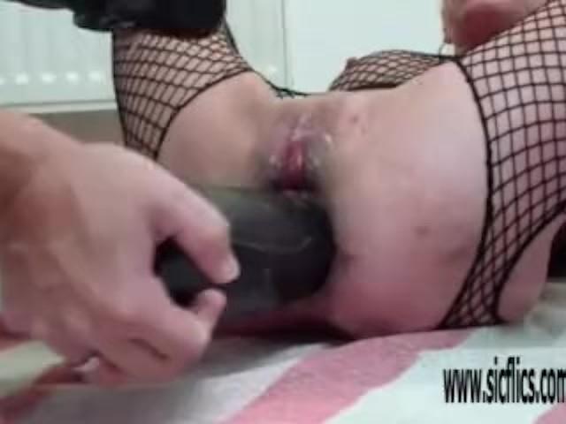 Double Xxl Dildos Destroy Her Holes