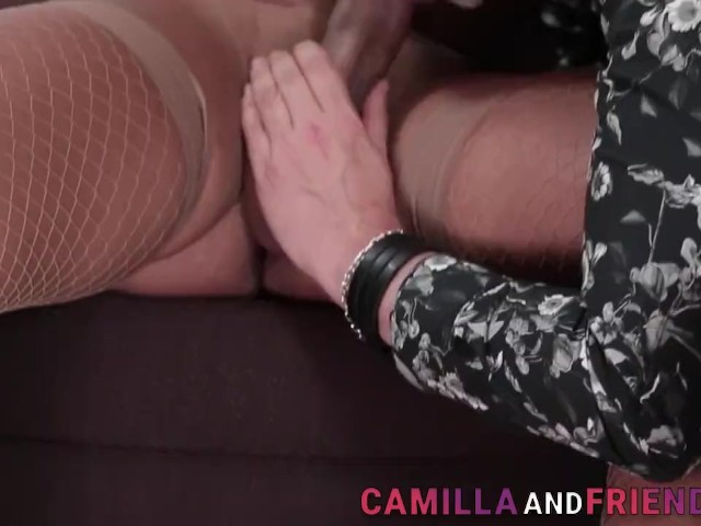 Shemale in Stockings Cums
