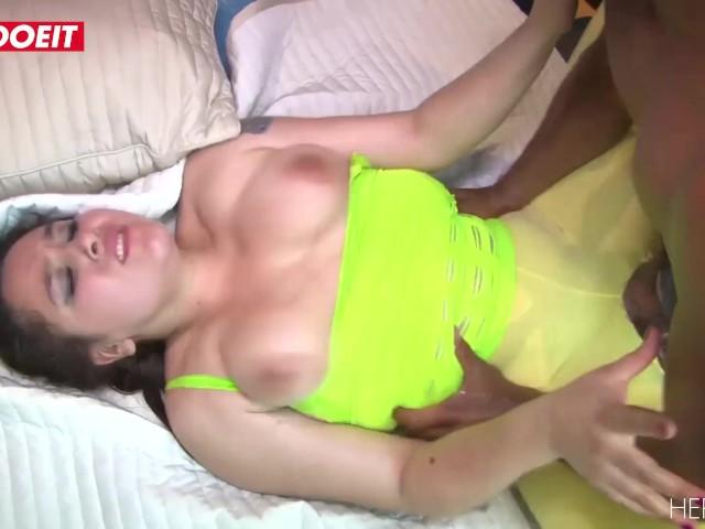Letsdoeit - a Big Black Cock for a Big Caucasian Ass Latina