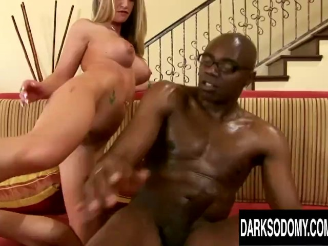 Blonde Milf Aline Gets Her Asshole Destroyed by a Long Black Cock