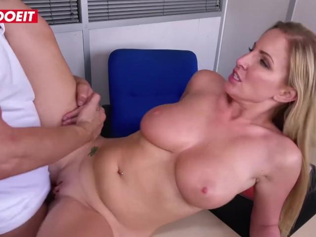 Letsdoeit - Busty Schoolgirl Gets Tight Pussy Fucked