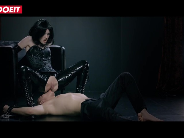 Letsdoeit - Skinny Brunette Has Passionate Sex in Kinky Leather Suit