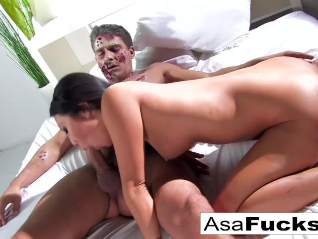Asa's Zombie Anal Creampie