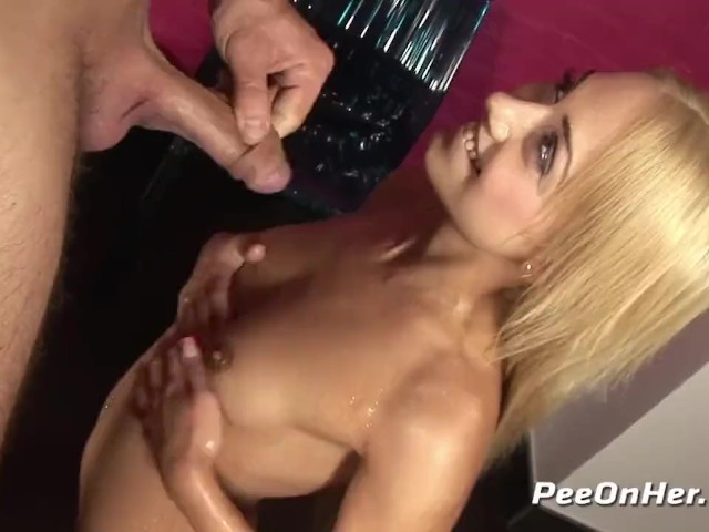 Blonde Masturbates While Drenched in Pee - Pissing Porn