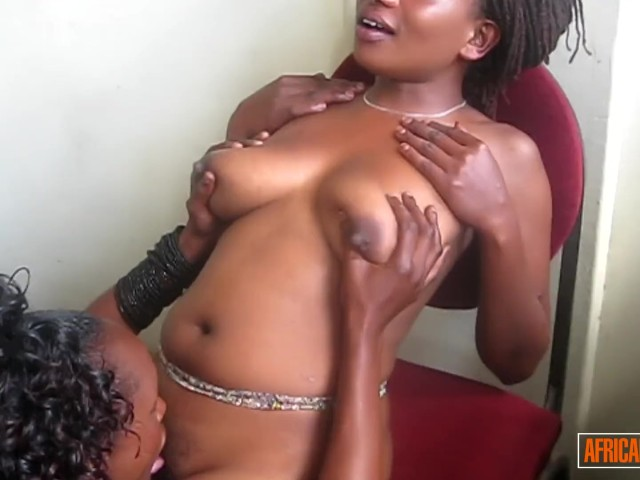 Two Hot Ebony Chicks Licking and Fingering