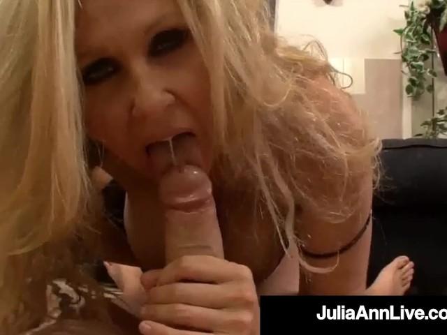 Busty Blonde Milf Julia Ann Gets Her Mature Muff Stuffed!