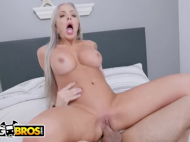 Bangbros - Logan Long Finds His Bff's Busty Mom Nina Elle Masturbating in the Bathroom