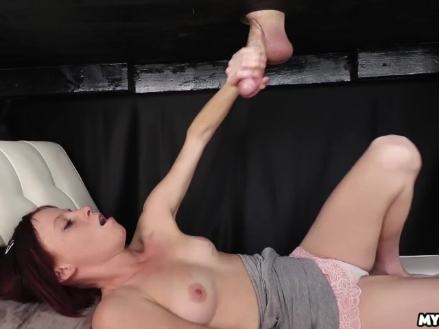 She Gets Splattered With Jizz - Petite Girl Vs Big Cock