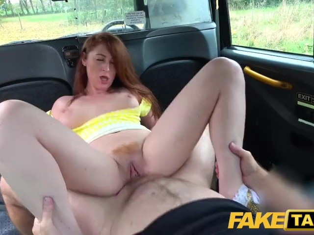 Fake Taxi Horny Redhead Hottie in Filthy Taxi Suck and Fuck Ride