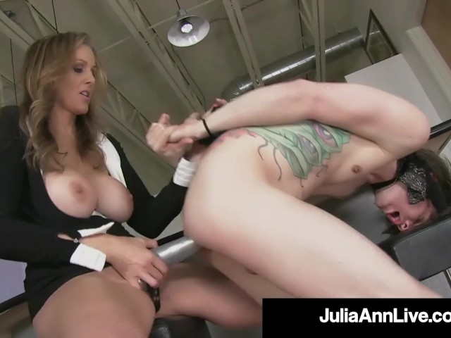 Busty Blonde Milf Julia Ann Pegs Her Boytoy As Payback!